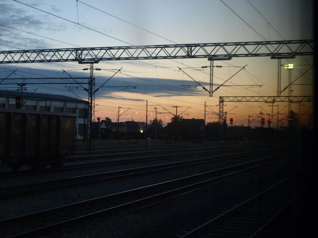 Brzké ráno na chorvatsko maďarském pomezí.