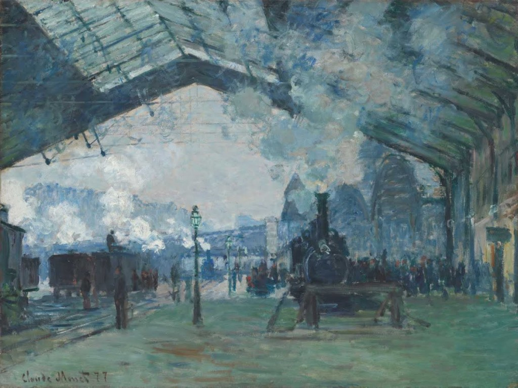 Claude Monet: Příjezd vlaku z Normandie do nádraží Saint-Lazare, 1877, The Art Institute of Chicago