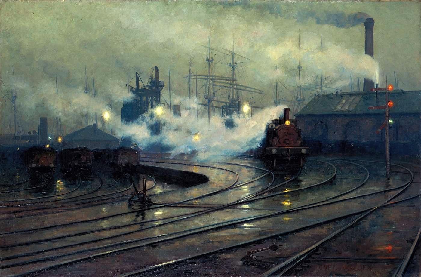 Lionel Walden, Doky v Cardiffu, 1894, Musée d'Orsay